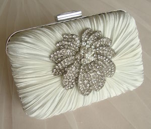 Vintage Inspired Satin Clutch Bag - what's new