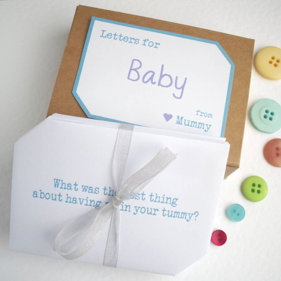 baby shower keepsake letters by paperbuzz cards notonthehighstreet