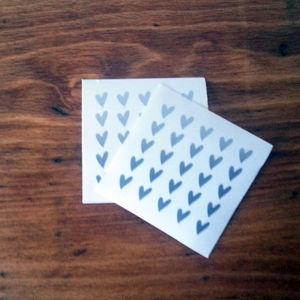 Tiny Silver Heart Stickers