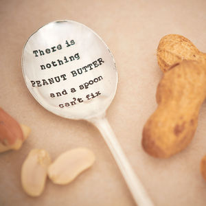 'Peanut Butter' Vintage Silver Plated Spoon - kitchen