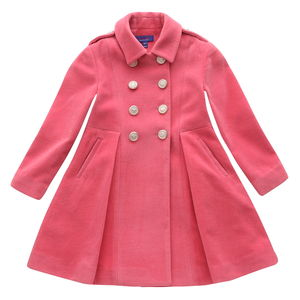 Pink Wool Military Coat - coats & jackets