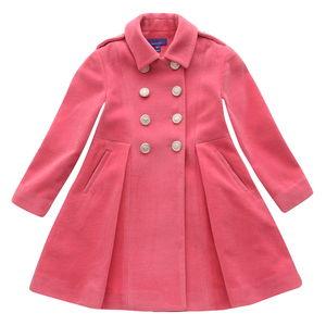 Pink Wool Military Coat