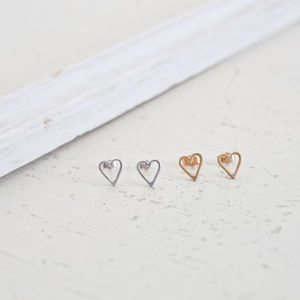 Heart Studs - earrings