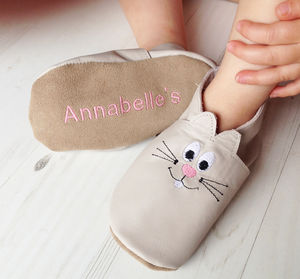 Personalised Easter Bunny Children's Slippers