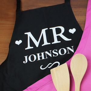 Mr Personalised Kitchen Apron