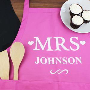 Mrs Personalised Kitchen Apron - kitchen accessories