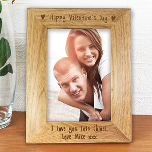 Happy Valentines Day Personalised Photo Frame - picture frames