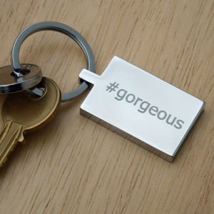 Personalised Hashtag Keyring - keyrings