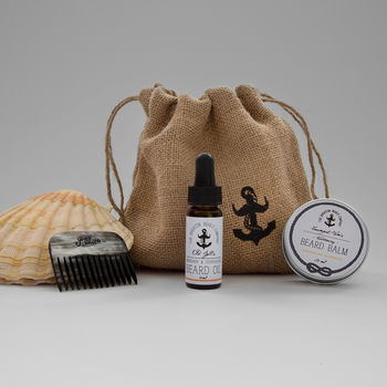 Aldington Blues Beard Oil, Balm And Comb Gift Set