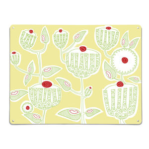 Cupcake Plant Design / Large Magnetic Notice Board