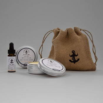 Crowlink Loot Beard And Moustache Care Gift Set