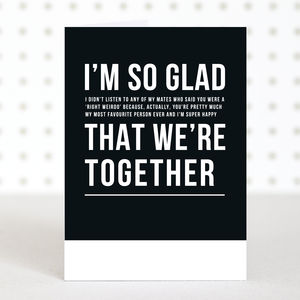 'I'm So Glad' Anniversary Card - shop by category