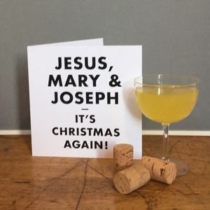 Pack Of Five 'Jesus, Mary And Joseph' Christmas Cards - cards