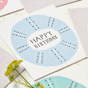 Blue Geometric 'Happy Birthday' Card - birthday cards