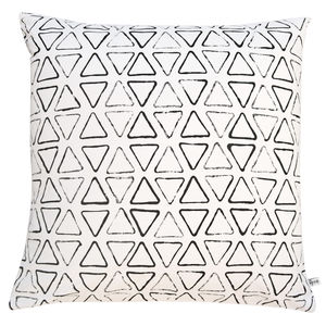 Personalised Monogram Triangle Print Cushion Cover - cushions