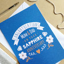 Personalised Sapphire Wedding Anniversary Card
