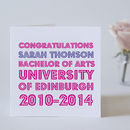 Personalised Congratulations Graduation Card