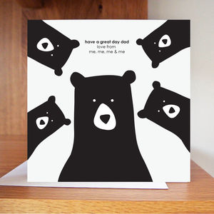 Have A Great Day, Build Your Own Daddy Bear Card