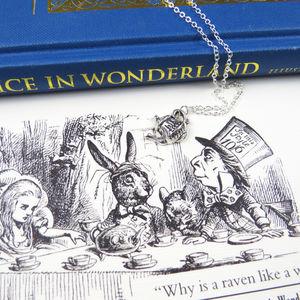 Alice In Wonderland Teapot Necklace - women's jewellery