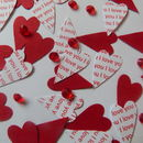 'I Love You' 'Marry Me' 'Be Mine' Heart Table Confetti