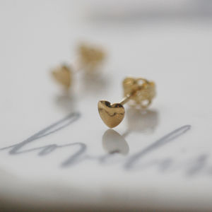 Teeny Tiny 9ct Gold Heart Earrings - gifts for her