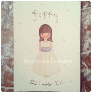 Personalised Flower Girl/Bridesmaid Portrait Painting - photography & portraits