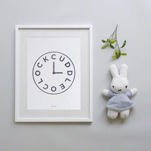Cuddle O'clock Print - children's pictures & prints