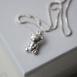Christening Bear Sterling Silver Necklace