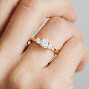 Aphrodite Ethical Fairtrade Diamond Engagement Ring - rings