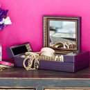 Purple Chinese Jewellery Box