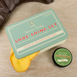 Gentlemen's Vintage Shoe Shine Storage Tin