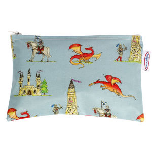 Knights And Dragons Flat Purse