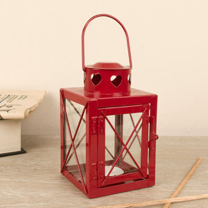Berry Red Lantern - candles & candle holders
