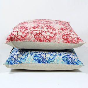 Hydrangeas Print Cushion Cover