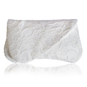 Arden Ivory Lace Bridal Clutch - bags