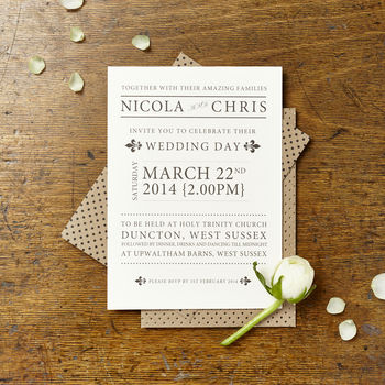 Nicola Jane Wedding Invitation