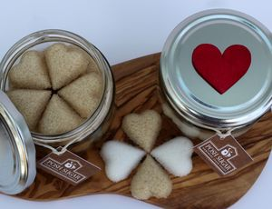 Heart Shaped Sugar - gifts to eat & drink