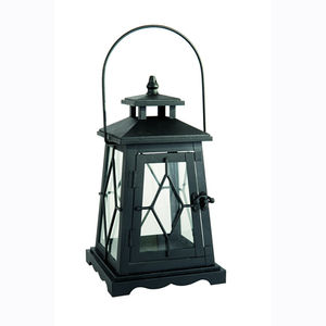 Black Bronte Candle Lantern 31cm - lights & lanterns