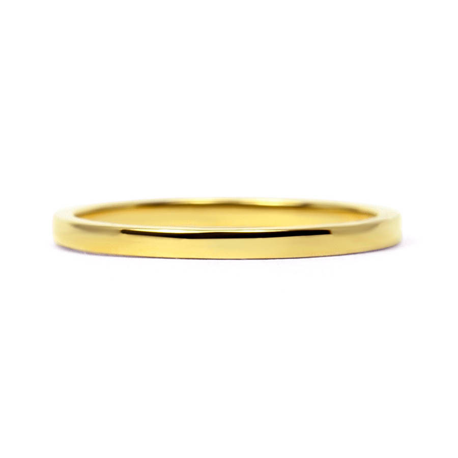is famous ring wedding why rings gold shape so flat mens