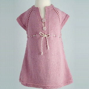 Handmade Organic Girls Dress: Flower
