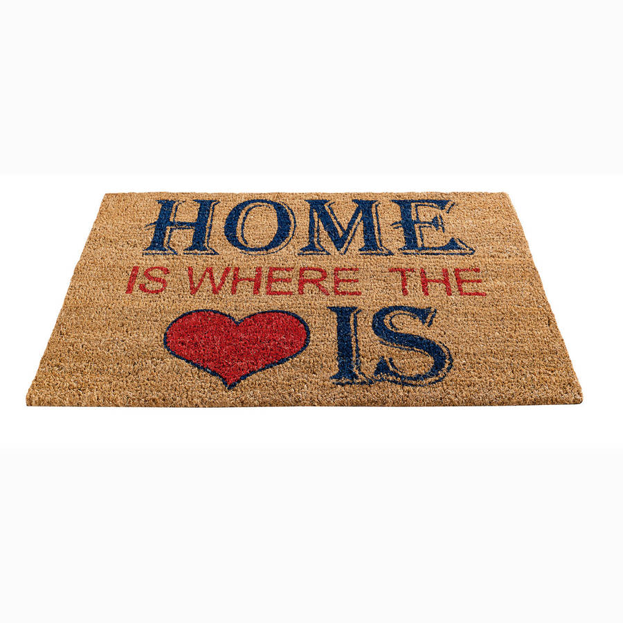 Home Is Where The Heart Is Coir Doormat By Garden