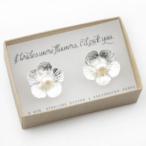 If Brides Were Flowers Earrings - earrings