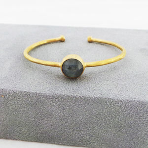 Labradorite Torque Bangle - modern heirlooms