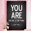 Personalised 'You Are The… To My…' Poster Or Canvas