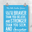'Inspiring Words For Kids' Personalised Print