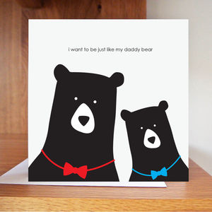 Just Like Daddy Card - birthday cards
