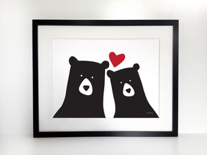 Me And You 'Selfie' Bear Print, A3