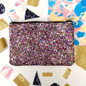 Glitter Party Zip Pouch - birthday gifts