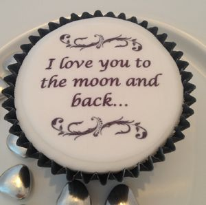 I Love You To The Moon And Back Cupcake Toppers - cake decoration