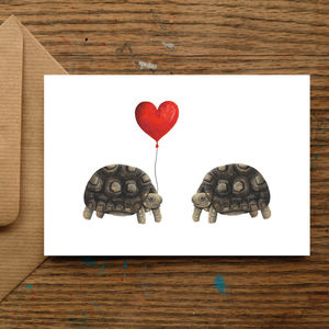 Tortoise Love Card - engagement cards